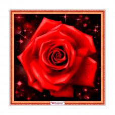 АЖ-1785 Картина стразами «Сверкающая роза» 25*25см