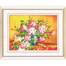 9093 Картина со стразами 'Букет', 95*74см