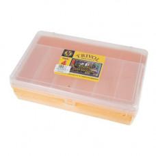 ТИП-4 Коробка двухъярусная с микролифтом, 235*150*65 мм (желтый)