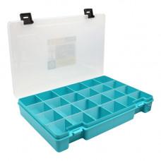 ТИП-7 Коробка, 6 съёмных перегородок, 24 ячейки, 274*188*45 мм (бирюзовый)
