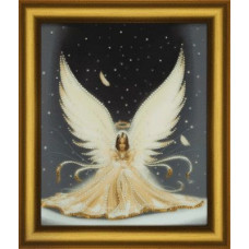 КС140 Набор для изготовления картины со стразами 'Рождественский ангел'