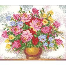 7487 Мозаика Cristal 'Красивый букет', 55*48 см