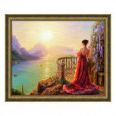 АЖ-1824 Картина стразами «На утренней заре» 50*40см