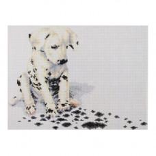EZ011 Мозаика на деревянной основе 'Потеряшка', 30*40 см