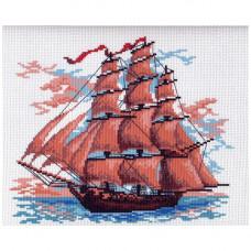 364-1 Канва с рисунком Матренин посад 'Алые паруса' 28*37см