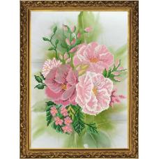 Бис3138 Рисунок на канве для вышивания бисером 'Розовый цвет'