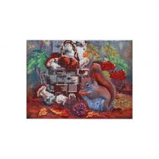 НР-3080 Канва с рисунком для вышивания бисером 'Щедрость осени' Hobby&Pro 26*20см