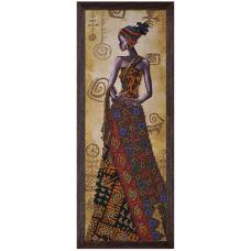 НД2079 Набор для вышивания бисером 'Загадочная африканка'18 x 51см