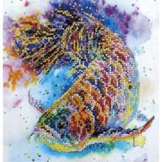 АМВ-044 Набор для вышивания бисером 'Рыбка удачи'20*20см