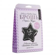 НБР-18002/3 Набор для вышивания бисером: Брошь «Чёрная звезда».