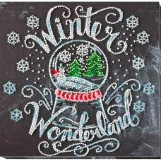 АМВ-047 Набор для вышивания бисером 'Зима чудес'20*20см