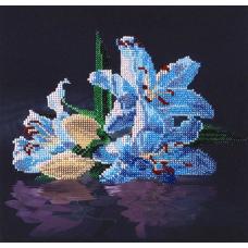 НР-3031 Канва с рисунком для вышивания бисером 'Лилии' Hobby&Pro 25*24см
