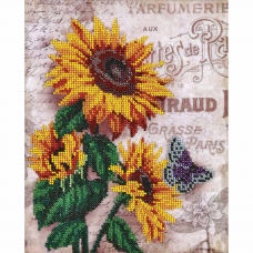 БН-3106 Подсолнухи и бабочка