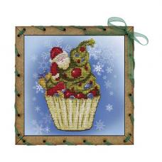 ОР7508 Набор для вышивания 'Нова Слобода' 'Рождественское пирожное',15х15 см