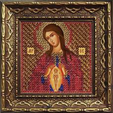 2066дПИ Набор для вышивания бисером 'Вышивальная мозаика' Икона Божией Матери 'Помощница в родах', 6,5*6,5 см