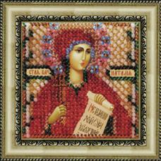 021ПМИ Набор для вышивания бисером 'Вышивальная мозаика 'Икона 'Св. Мученица Наталия', 6,5*6,5 см