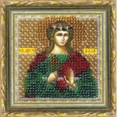 040ПМИ Набор для вышивания бисером 'Вышивальная мозаика' Икона 'Святая Алла', 6,5*6,5 см