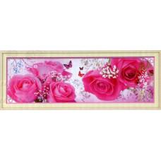 8662 Картина со стразами 'Розы', 152*53см