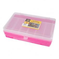 ТИП-4 Коробка двухъярусная с микролифтом, 235*150*65 мм (малиновый)