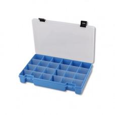 ТИП-7 Коробка, 6 съёмных перегородок, 24 ячейки, 274*188*45 мм (голубой)
