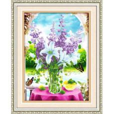 51404 Картина со стразами 5D 'Букет на столе', 63*80см