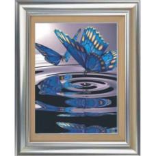 1021 Мозаика Cristal 'Бабочки на воде', 50*70 см