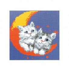 BZ048 Мозаика на деревянной основе 'На луне', 20*20 см