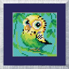 AM0021 Набор алмазной мозаики Риолис «Попугай» 10*10см