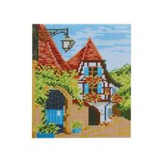 F0505 Мозаика 'Дом' 17*20 см. (холст 20*23см), Cristal