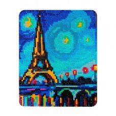 MP009 Алмазная картина Колор Кит 'Огни Парижа'17*21см