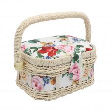 LY1632S Шкатулка малая, декоративная, Розы на белом, 17*12*9,5см
