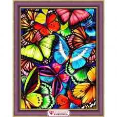АЖ-1725 Картина стразами 'Яркие бабочки' 30*40см