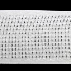 Канва 'лента', 1,5м*7см, 100% хлопок Bestex (белый/белый)