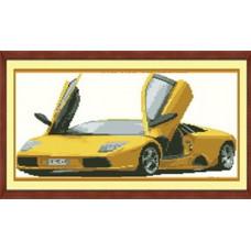 7417 Мозаика Cristal 'Желтая машина', 50*35 см