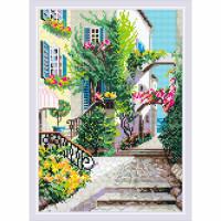 AM0025 Набор алмазной мозаики Риолис «Итальянский дворик» 27*38см