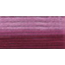 Мулине Гамма меланж цвет Р-27 бордовый-светло-розовый