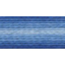 Мулине Гамма меланж цвет Р-09 ярко-синий-светло-синий