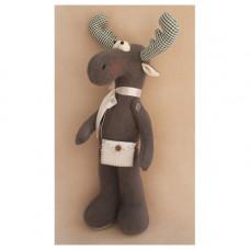EL001 Набор для изготовления текстильной игрушки 36см ELK STORY Лось (Ваниль)
