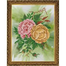 Бис3150 Рисунок на канве для вышивания бисером 'Розы'