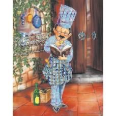 ВН1075 Набор для вышивания Alisena 'Повар с книгой рецептов' 25*31 см