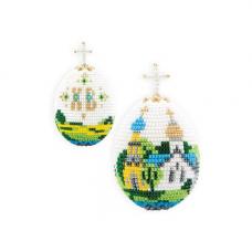 В204 Набор для бисероплетения Riolis Яйцо 'Церквушка', 6,5*5 см