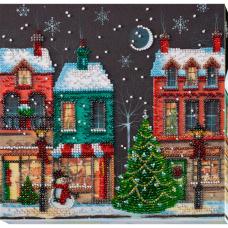 АМВ-048 Набор для вышивания бисером 'Праздничный городок'20*20см