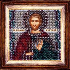 127ПМИ Набор для вышивания бисером 'Вышивальная мозаика' Икона 'Св. Муч. Евгений', 6,5*6,5 см