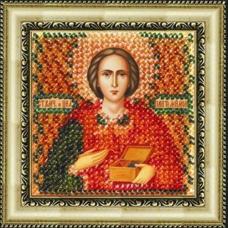 022ПМИ Набор для вышивания бисером 'Вышивальная мозаика' Икона 'Св. Пантелеймон', 6,5*6,5 см