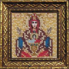 2067дПИ Набор для вышивания бисером 'Вышивальная мозаика' Икона Божией Матери 'Неупиваемая чаша', 6,5*6,5 см