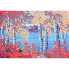 В1111 Канва с рисунком Alisena 'Осенний пейзаж', 30*22 см