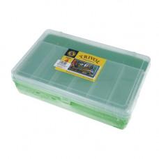 ТИП-4 Коробка двухъярусная с микролифтом, 235*150*65 мм (салатовый)