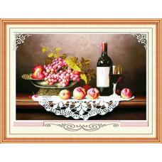 51521 Картина со стразами 5D 'Натюрморт с виноградом', 92*66см
