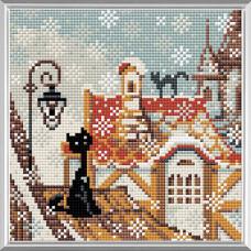 AM0010 Набор алмазной мозаики Риолис «Город и кошки. Зима» 20*20см