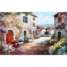 1086 Мозаика Cristal 'Приморский городок', 65*48 см